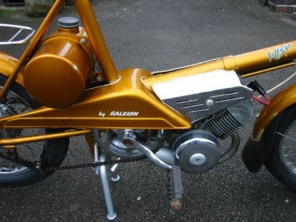 1967 Raleigh Wisp, Gold  - Engine and Gas Tank