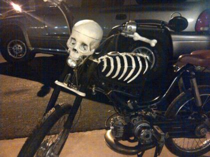 Honda PA50 II, skeleton bike