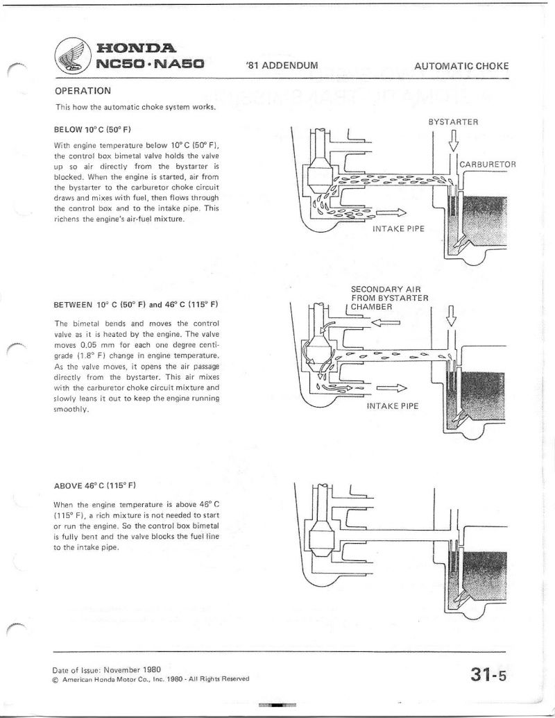 Re Honda Express Auto Choke Bypass Moped Army Motor Diagram 2