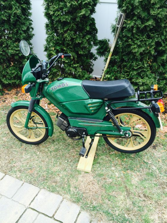 1993 Tomos A-3 Golden Bullet TT-LX, Green