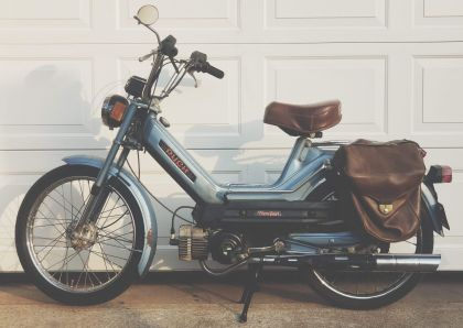 1978 Puch Newport, Blue, Saddlebags