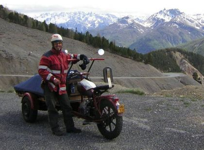 Trike in the mountains
