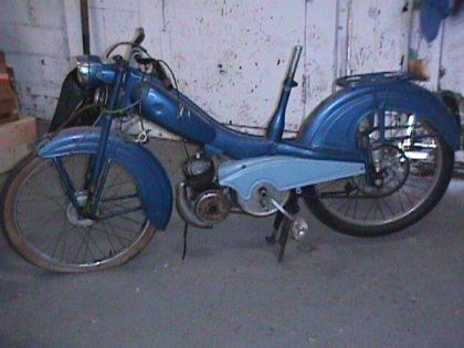 1958 Montgomery Wards Riverside Moped, Blue