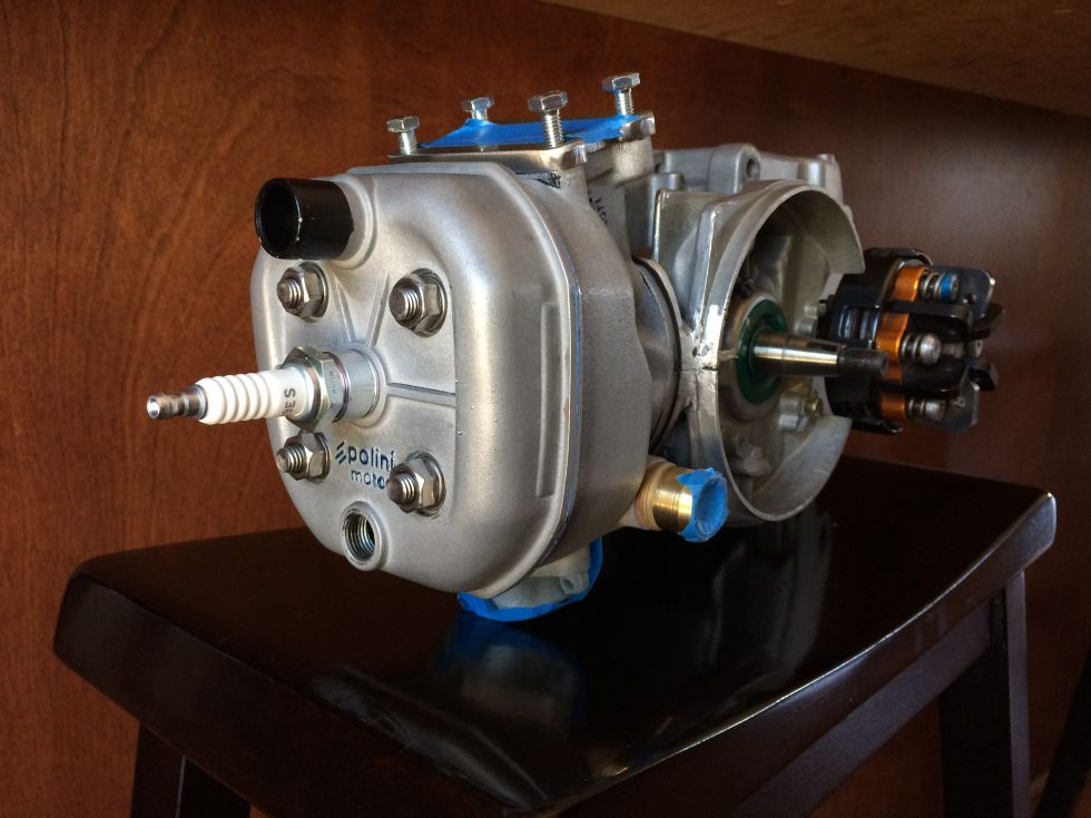 Puch Kromag, Polini RV4/E50 with Tomar kart external clutch