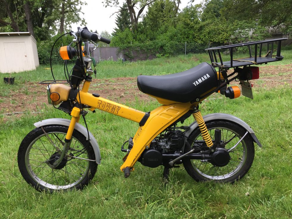 1981 Yamaha MJ50 Towny, Yellow