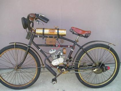 1915 style clip on motor kit bicycle