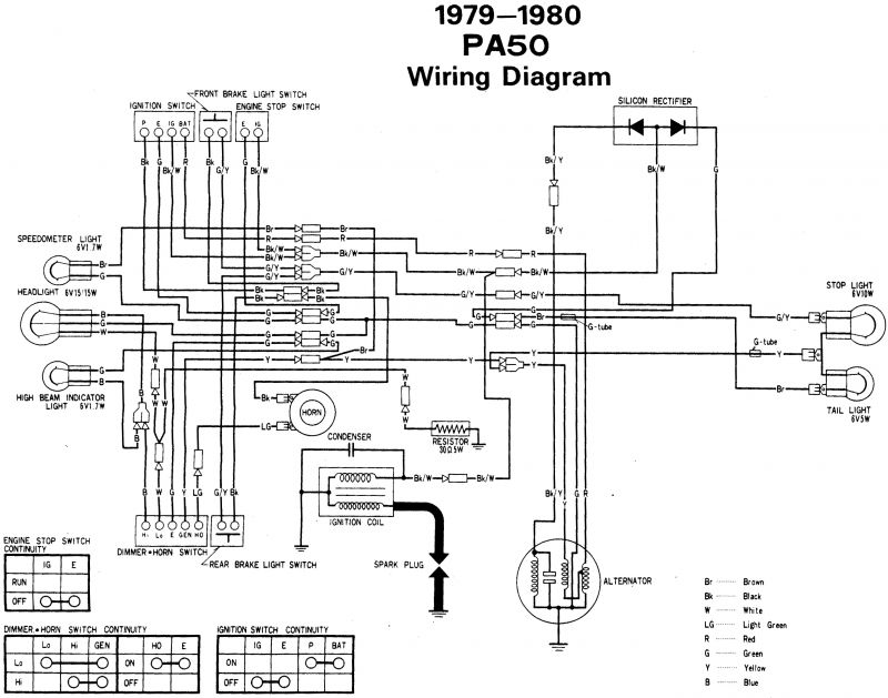 Re: Wiring diagram 1980 Honda PA 50 — Moped ArmyMoped Army