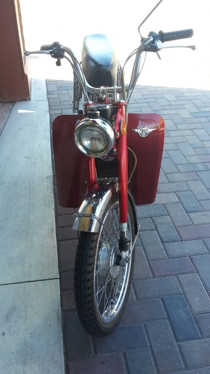 1977 Motobecane 50V, Red, with leg shields