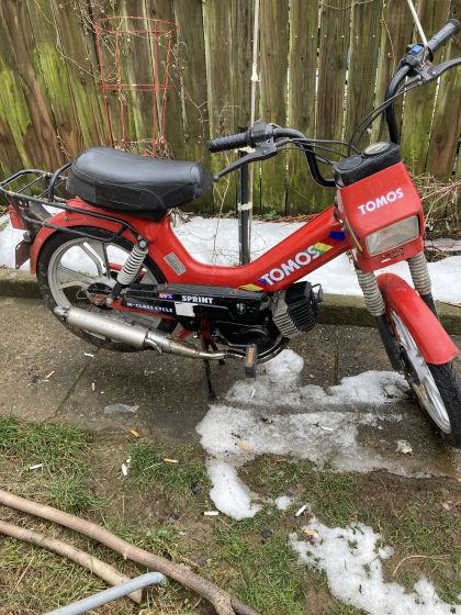 1994 Tomos Sprint, Red