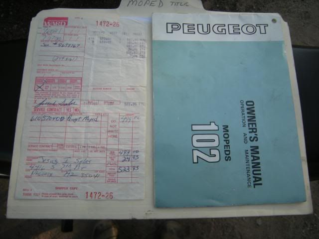 peugeot 102sp owners manual — moped army