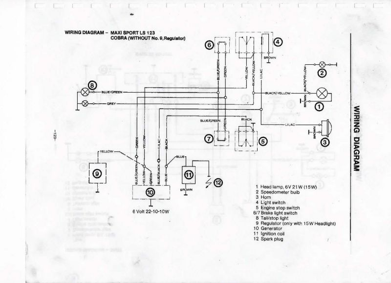 1985 Puch Maxi Wiring Diagram. Does it exist? — Moped Army