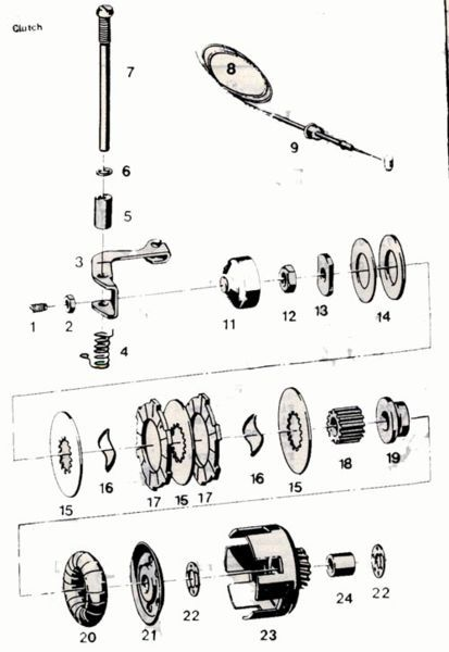 Sachs 505/504/535 Manual Cluch — Moped Army