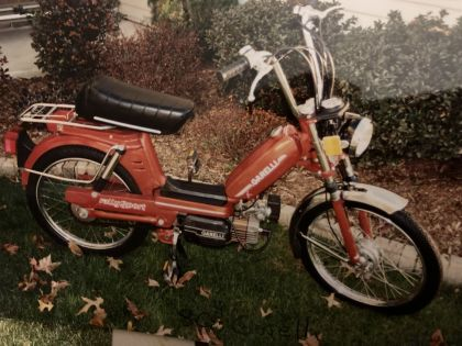 1981 Garelli Rally Sport, my peds over the years