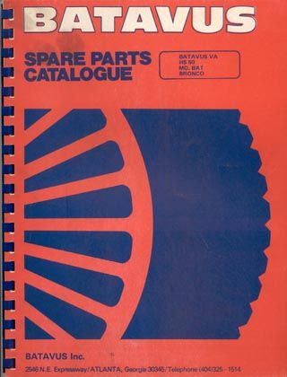 1976 Batavus, Spare Parts Catalogue