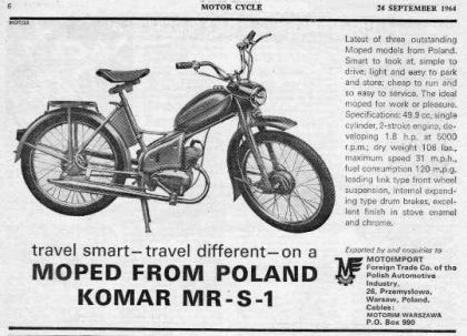 1968 Komar MR-S-1, moped from Poland