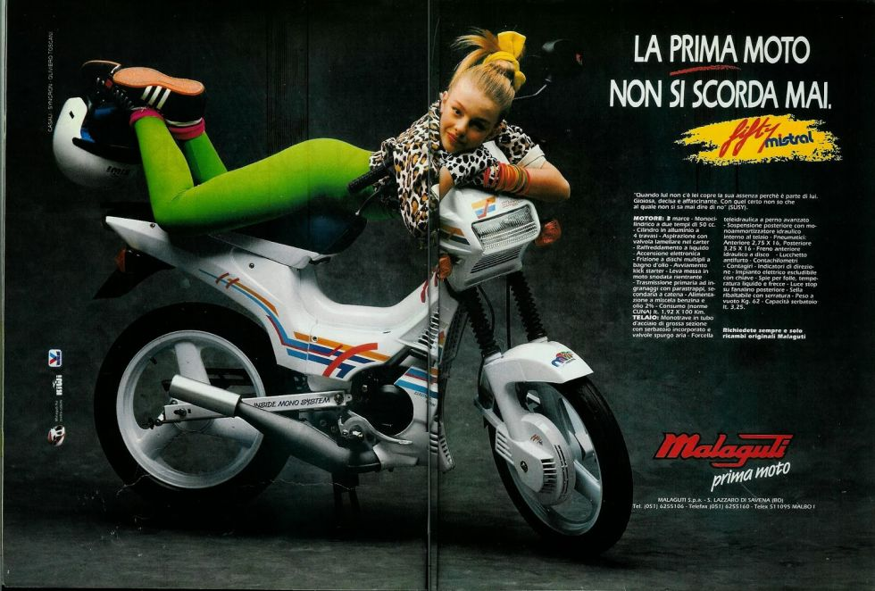 Malaguti Fifty Mistral, Advertisement