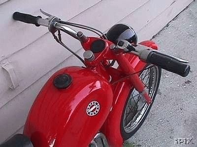 1962 Motom C, Red Handlebar Shot
