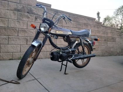 1980 Puch Magnum MK II, Puch Magnum UPS brown and gold.