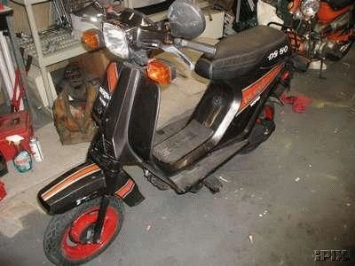 1988 Derbi DS50, Black and Orange
