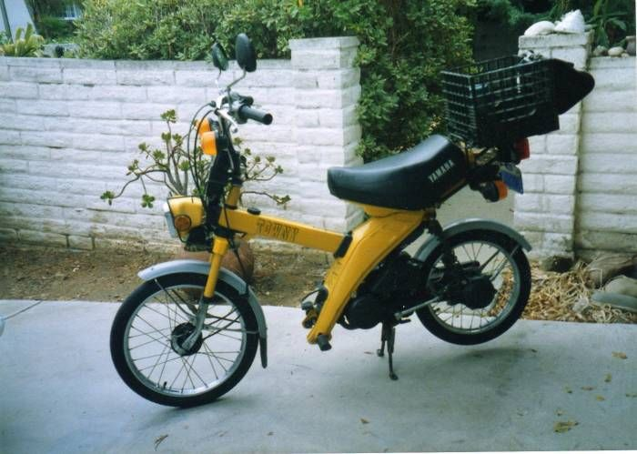 1982 Yamaha MJ50 Towny, Yellow