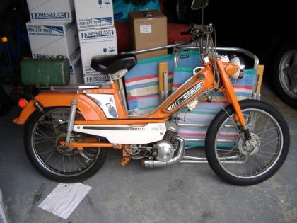 1976 Motobecane 50V, Orange and White