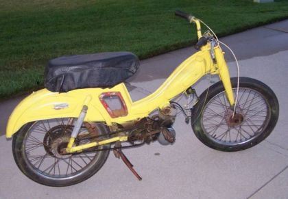 1959 Montgomery Wards Riverside Moped, Yellow