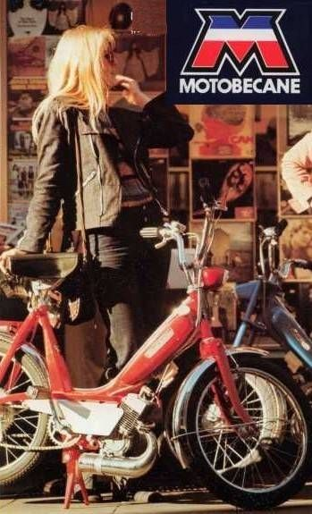 1973 Motobecane, Woman with mopeds