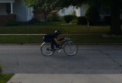 43 mph on a motorized bicycle!