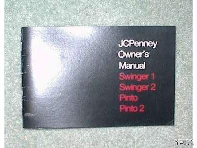J.C. Penney, Owners Manual