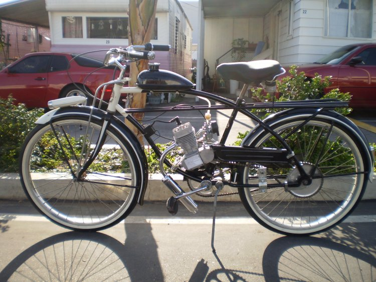 (Old bike with motor)