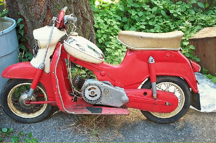 1956 Puch (Scooter, Red)