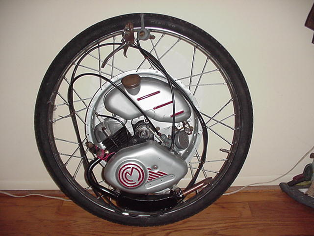 1952  (British Cyclemaster 32cc motor wheel)