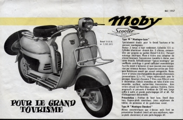 1957 Motobecane (Moby Scooter Catalog Sheet)