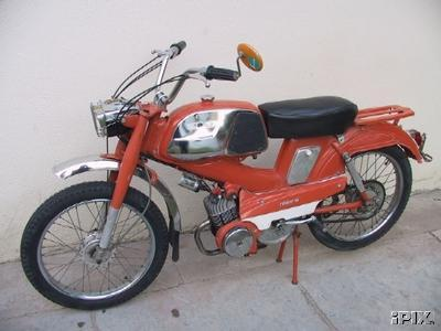 1974 Motobecane Mobylette (Red with Chrome tank)
