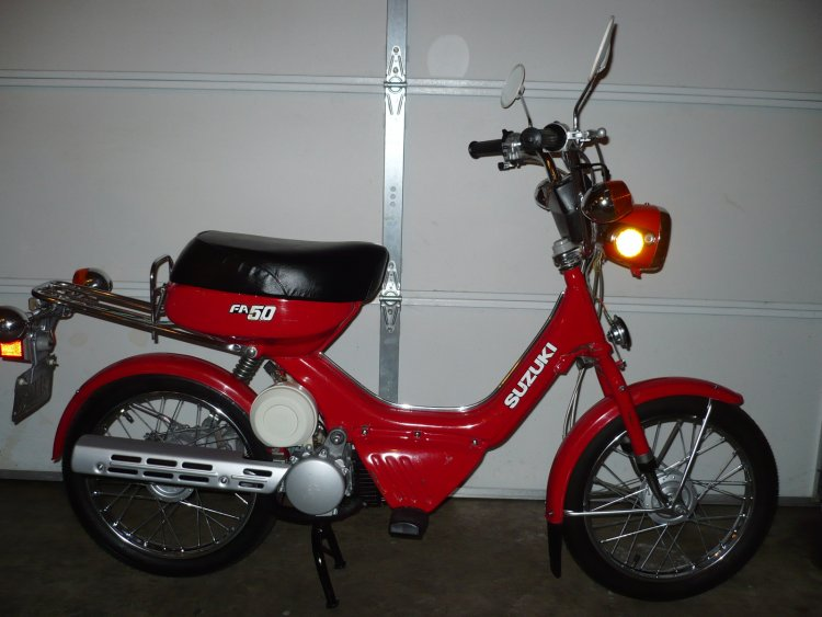 1983 Suzuki FA50, Red | Moped Photos — Moped Army