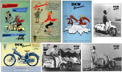1950 DKW-Zweirad Union Hummel (Postcards)