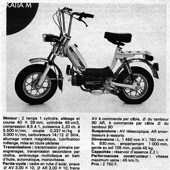 1982 Garelli Katia (Specifications)