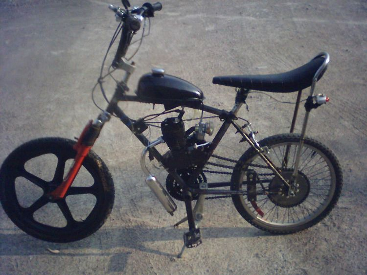 (Home built moped)