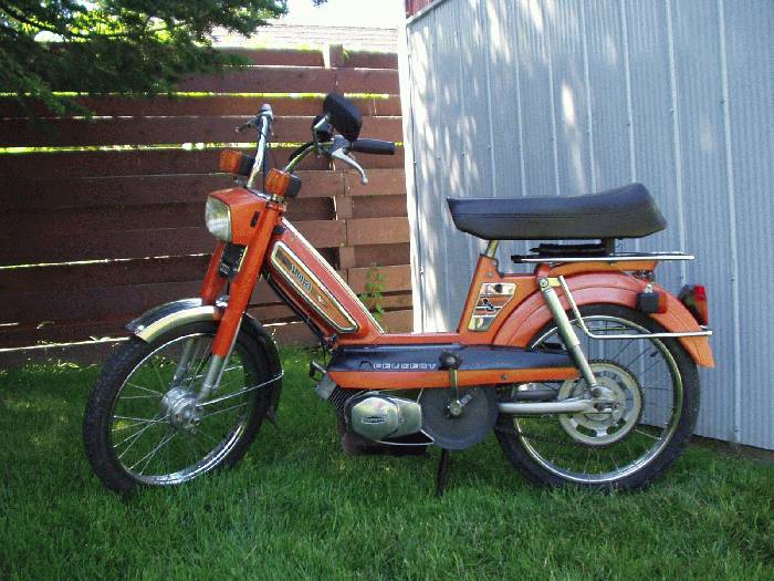 1977 peugeot 103 orange moped photos moped army. Black Bedroom Furniture Sets. Home Design Ideas