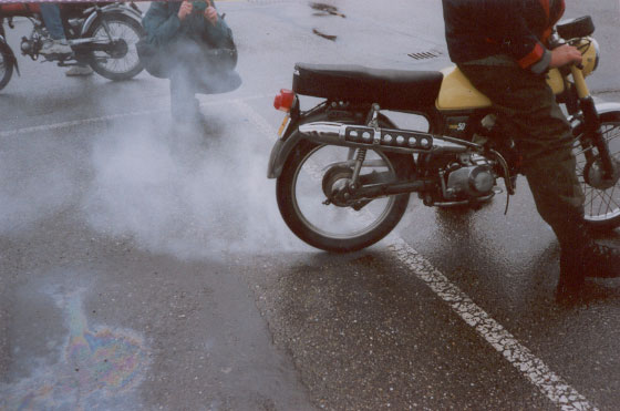 (Moped Burnout)