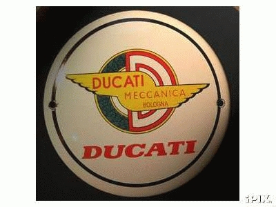 Ducati (enamel sign)