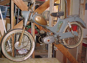 1956 Motobecane (Blue, with gold tank)