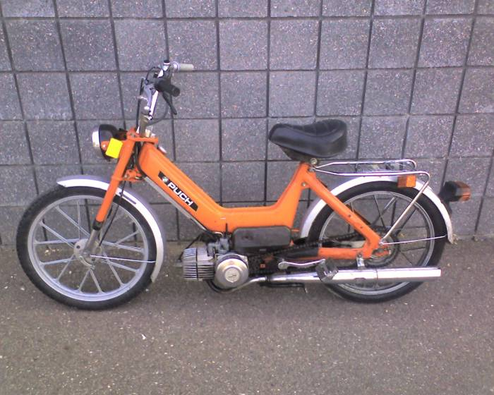 1976 Puch Maxi N, Orange | Photo — Moped Army