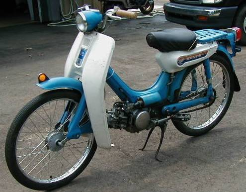 1969 Honda PC50 (Blue with leg sheilds)