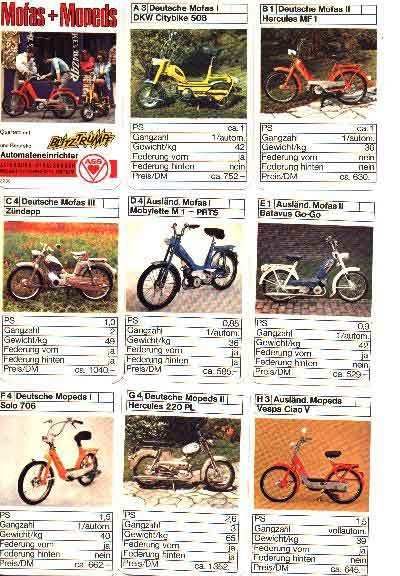 (Moped Trading or Stat Cards)