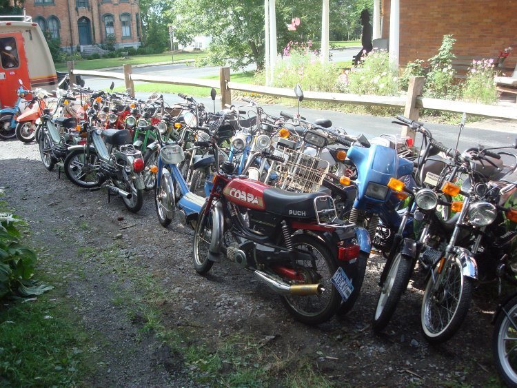 (Tons of mopeds)