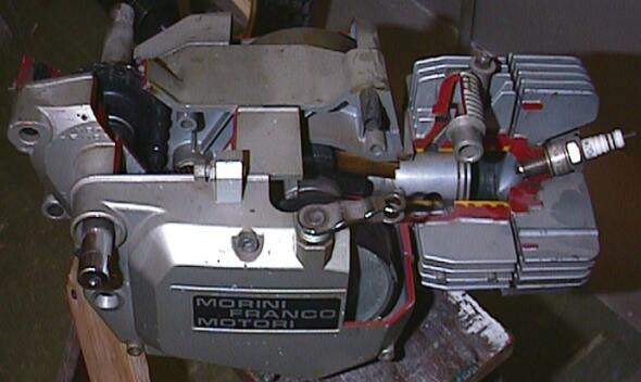 (Morini Engine Cut-Away, View 4)