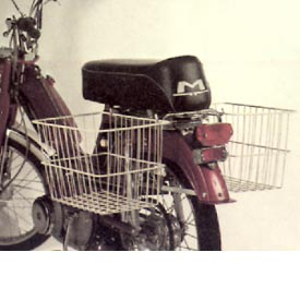 1980 Motobecane 50V (Rear View, with basket)