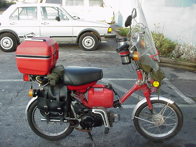 1984 Yamaha QT50 (Red, with addons)