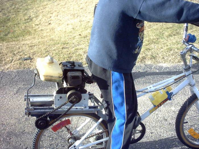 (homemade motorized bicycle)